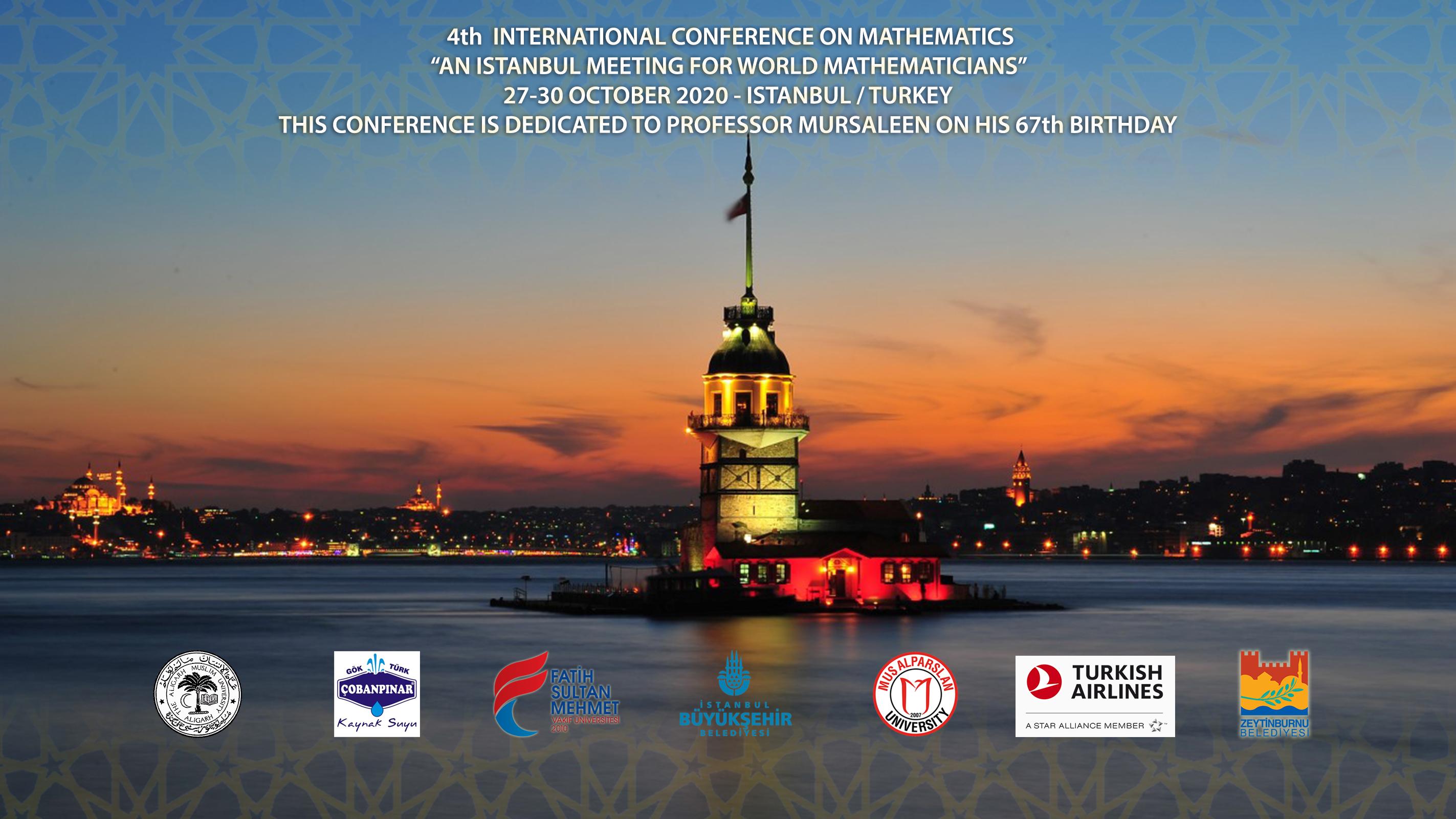 4. International Conference on Mathematics-An Istanbul Meeting for World Mathematicians afişi